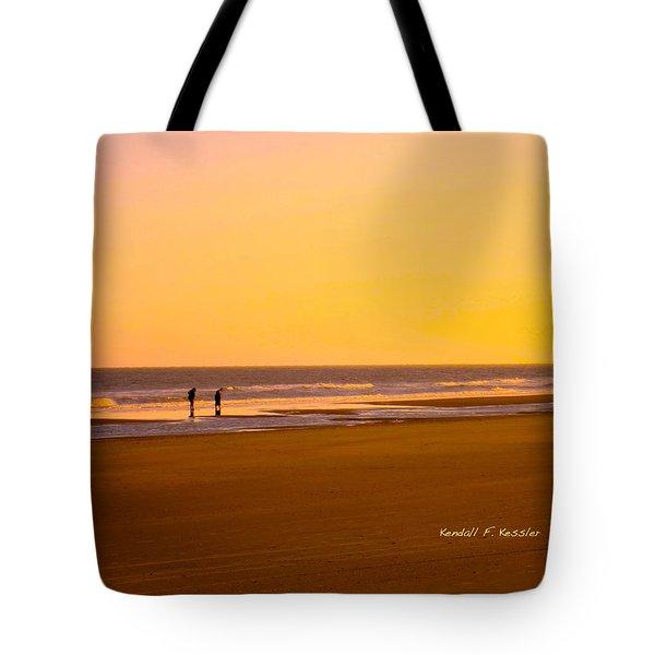 Goldlen Shore At Isle Of Palms Tote Bag by Kendall Kessler