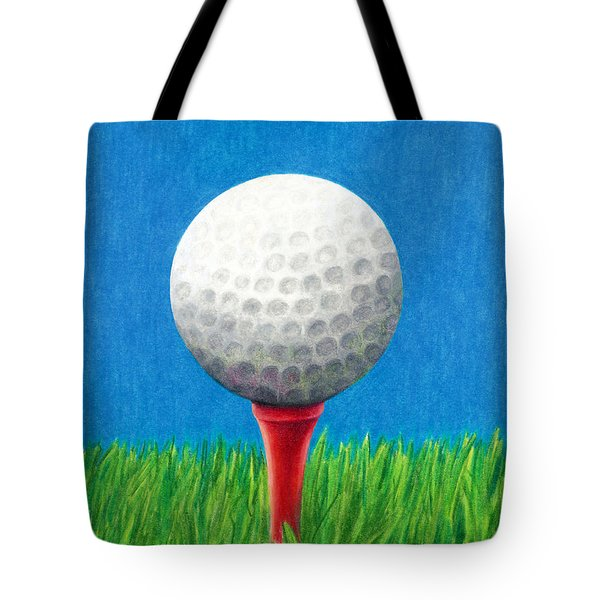 Golf Ball And Tee Tote Bag