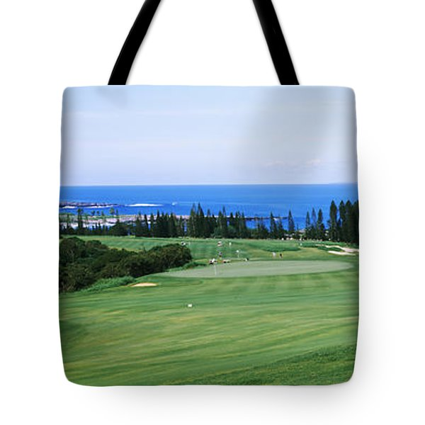 Golf Course At The Oceanside, Kapalua Tote Bag