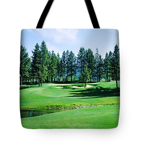 Golf Course, Edgewood Tahoe Golf Tote Bag