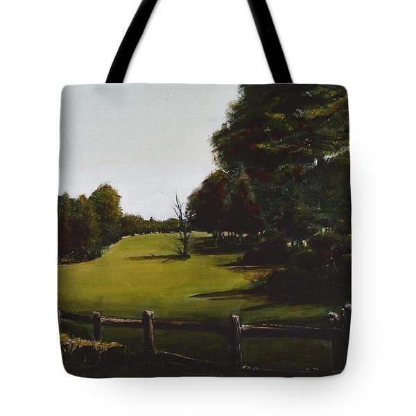 Golf Course In Duxbury Ma Tote Bag by Diane Strain