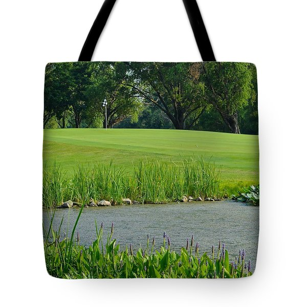 Golf Course Lay Up Tote Bag by Frozen in Time Fine Art Photography