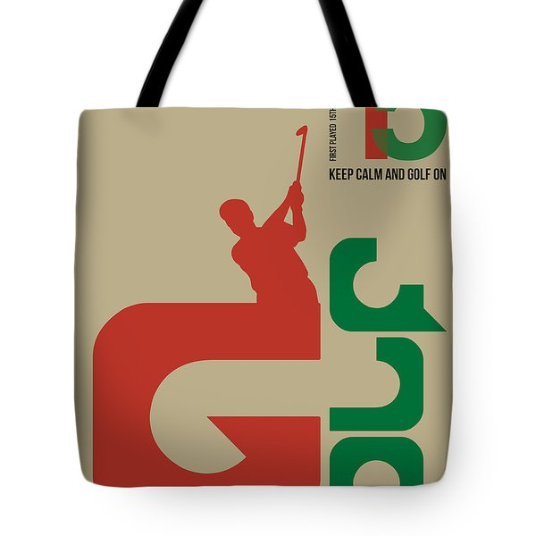 Golf Poster Tote Bag by Naxart Studio
