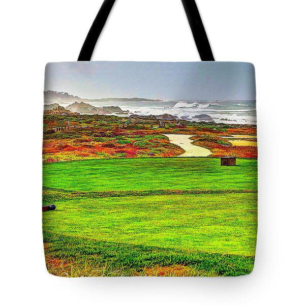 Golf Tee At Spyglass Hill Tote Bag