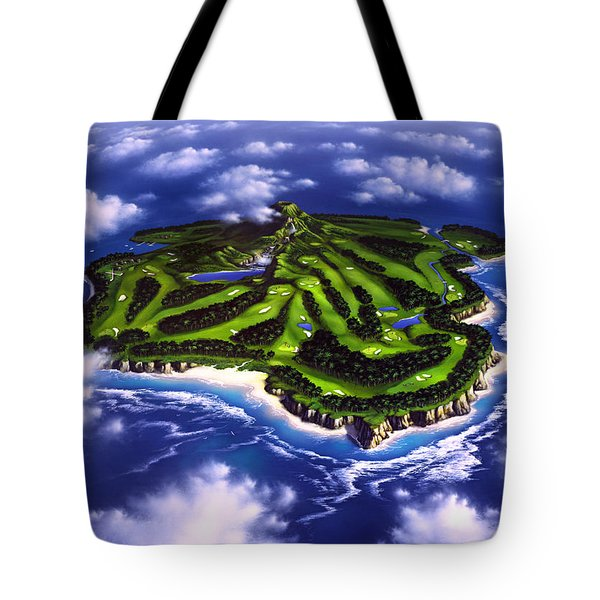 Golfer's Paradise Tote Bag by Jerry LoFaro