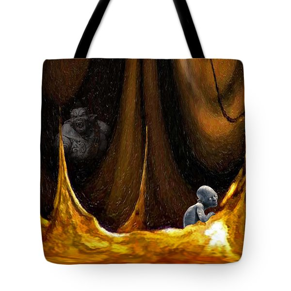 Gollum Shows The Way Tote Bag by Steve Harrington