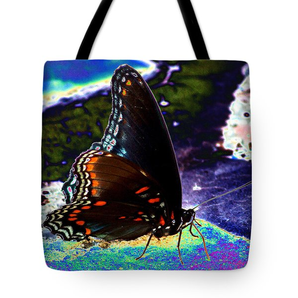 Gona-fly-butterfly Tote Bag by Kim Pate