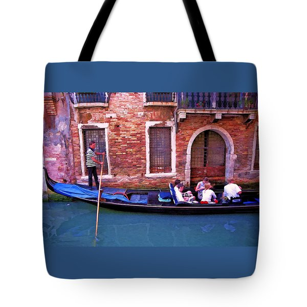 Tote Bag featuring the photograph Gondola 4 by Allen Beatty
