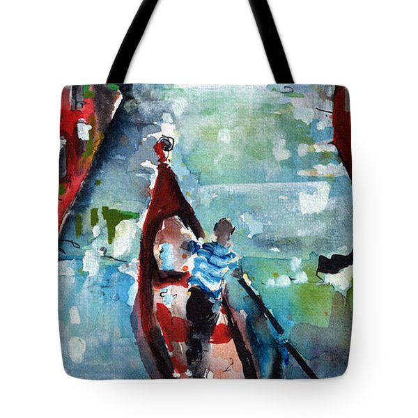 Gondola In The Mist Venice Italy Tote Bag
