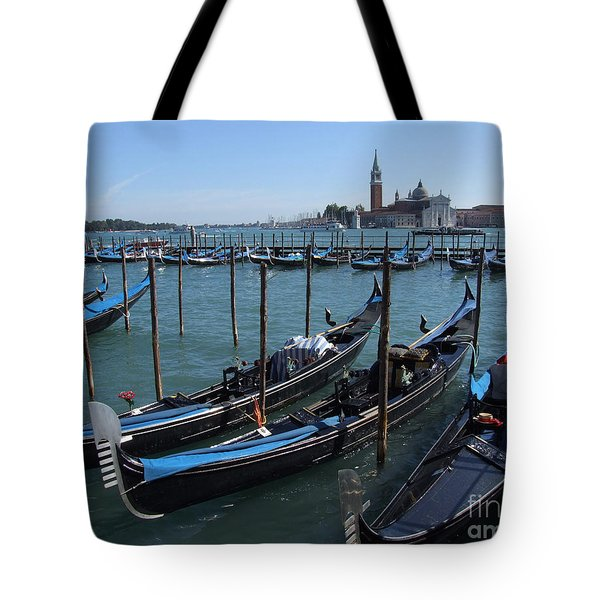 Tote Bag featuring the photograph Gondola's - Grand Canal - Venice by Phil Banks