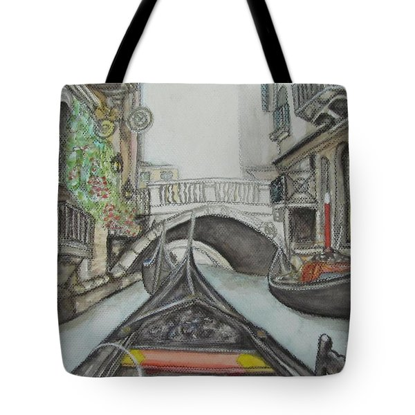 Gondola Venice Italy Tote Bag by Malinda  Prudhomme