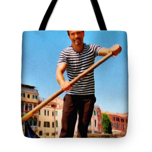 Gondolier Tote Bag by Jeff Kolker