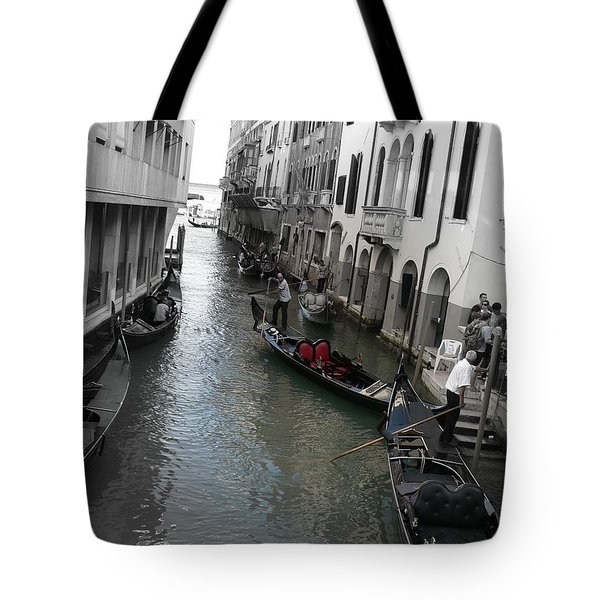 Tote Bag featuring the photograph Gondolier by Laurel Best