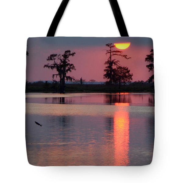 Tote Bag featuring the photograph Gone Fishin by Charlotte Schafer