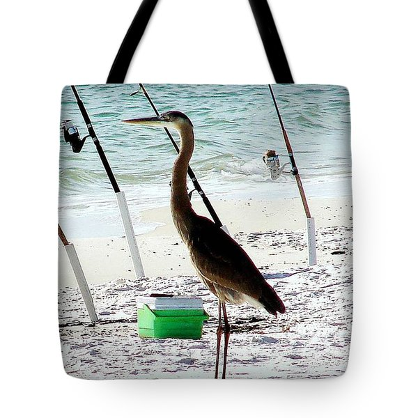 Tote Bag featuring the photograph Gone Fishing by Debra Forand