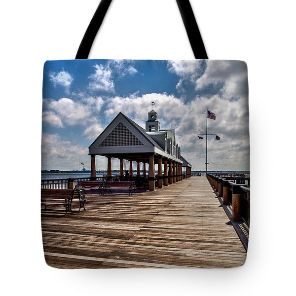 Tote Bag featuring the photograph Gone Fishing by Sennie Pierson