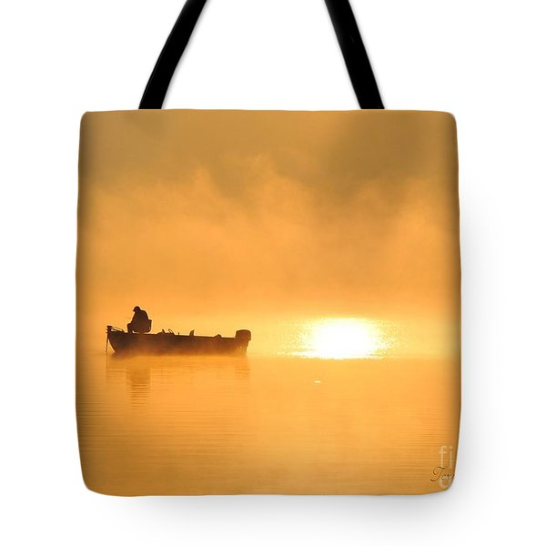 Tote Bag featuring the photograph Gone Fishing by Terri Gostola