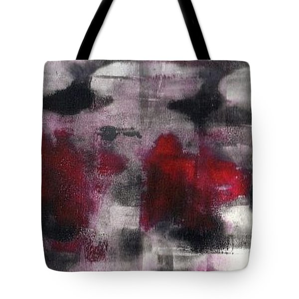 Tote Bag featuring the painting Gone In 45 Seconds by Lesley Fletcher