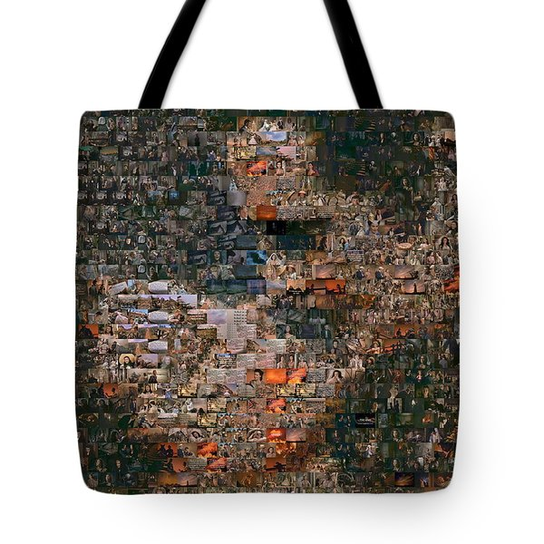 Gone With The Wind Scene Mosaic Tote Bag by Paul Van Scott