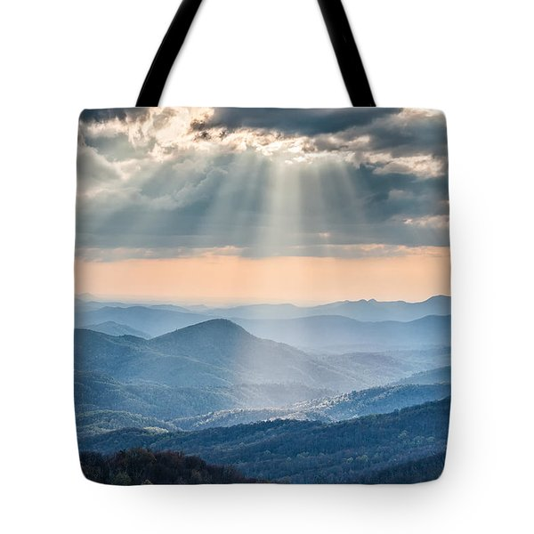 Good Afternoon From Max Patch Tote Bag by Rob Travis