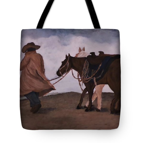 Good Day For A Walk Tote Bag by Christy Saunders Church