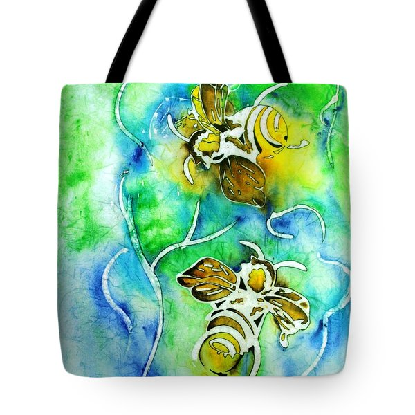 Tote Bag featuring the painting Good Day To Be A Bee by Pat Purdy