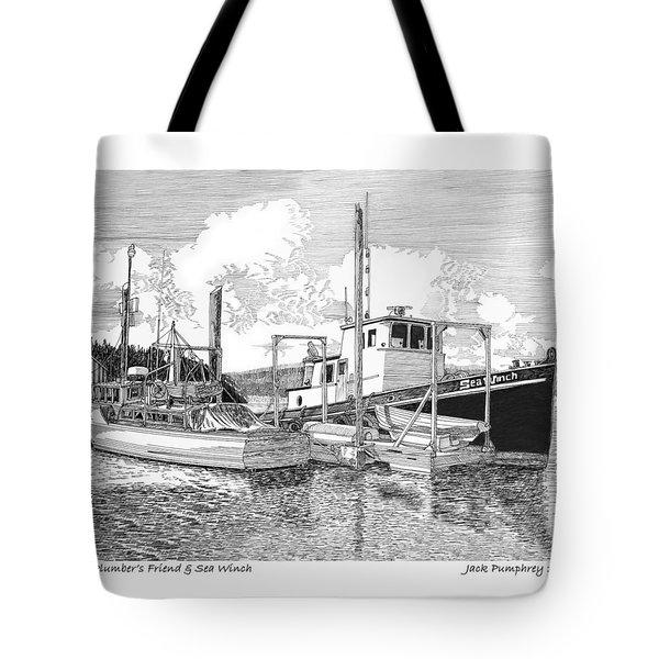 Plumbers Friend And Sea Winch Tote Bag