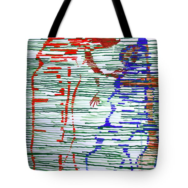 Good Friday - Jesus Meets His Mother On Calvary Tote Bag by Gloria Ssali