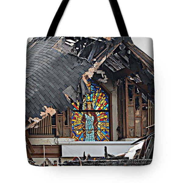 Good Lord Tote Bag by Ally  White