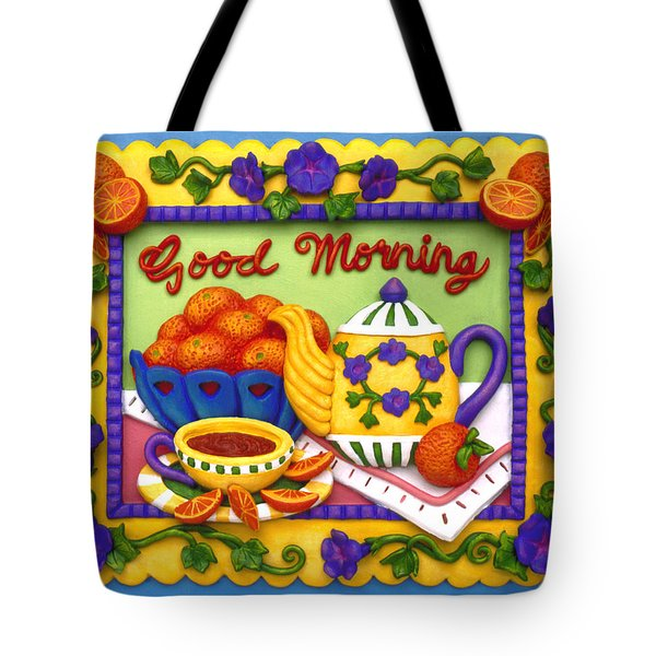 Good Morning Tote Bag by Amy Vangsgard
