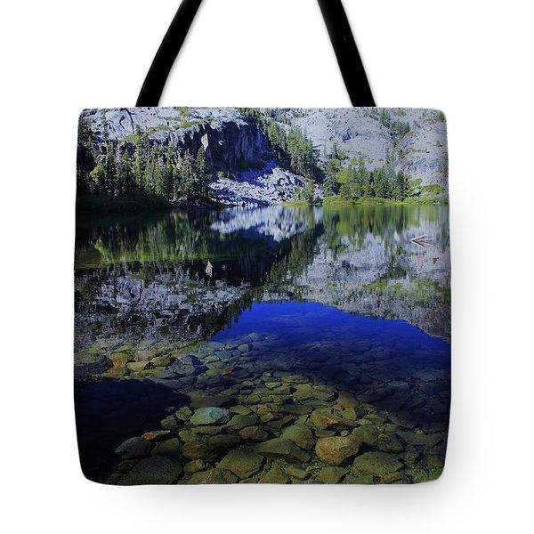 Good Morning Eagle Lake Tote Bag by Sean Sarsfield