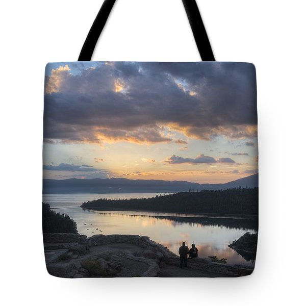 Tote Bag featuring the photograph Good Morning Emerald Bay by Peter Thoeny