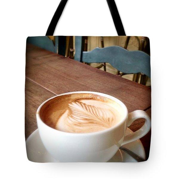 Good Morning Latte Tote Bag by Susan Garren