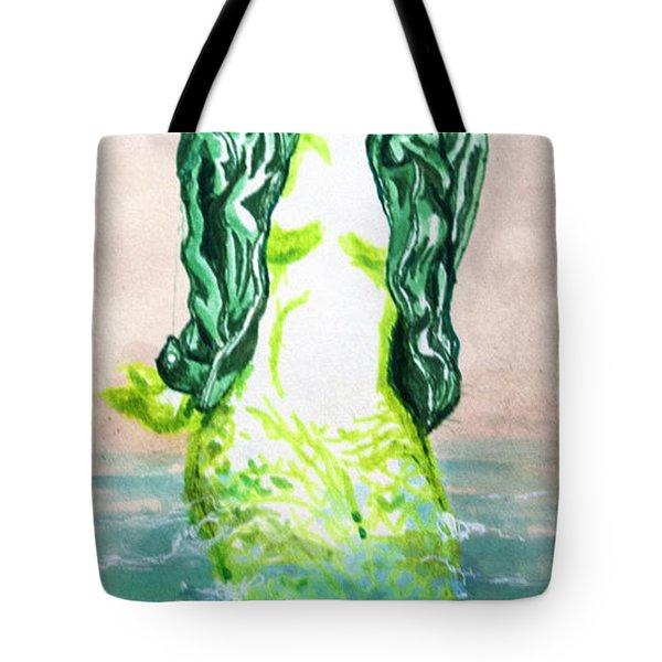 Good Morning Little Mermaid Tote Bag by Del Gaizo