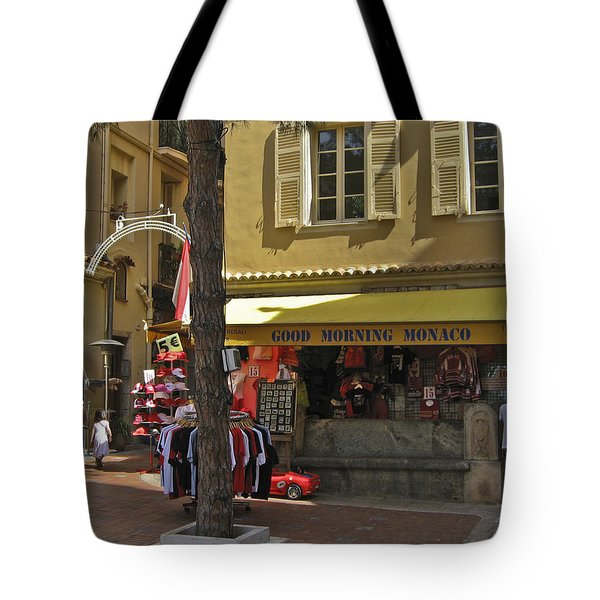 Good Morning Monaco Tote Bag by Allen Sheffield