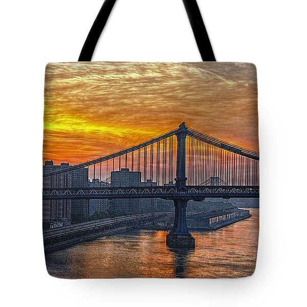 Good Morning New York Tote Bag by Hanny Heim