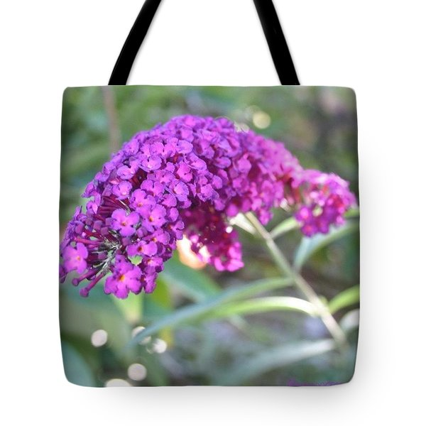 Good Morning Purple Butterfly Bush Tote Bag