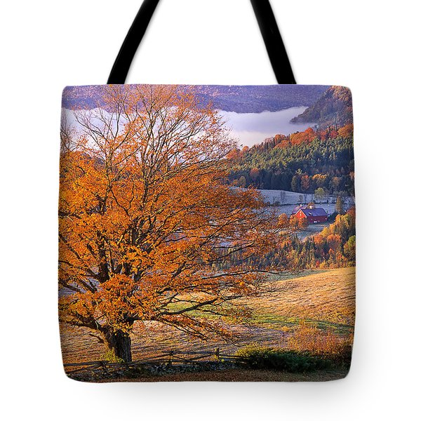Good Morning Vermont Tote Bag by Alan L Graham