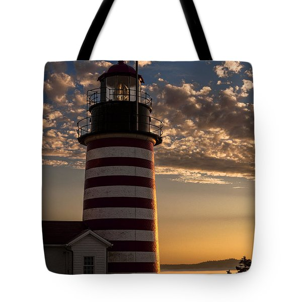 Good Morning West Quoddy Head Lighthouse Tote Bag