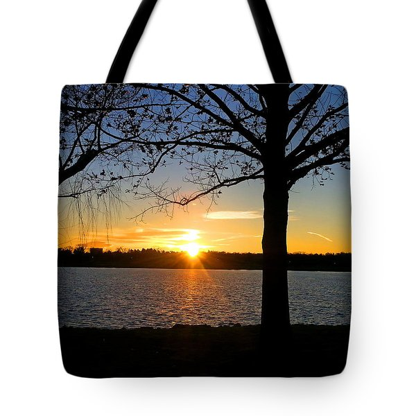 Good Night Potomac River Tote Bag by Emmy Marie Vickers