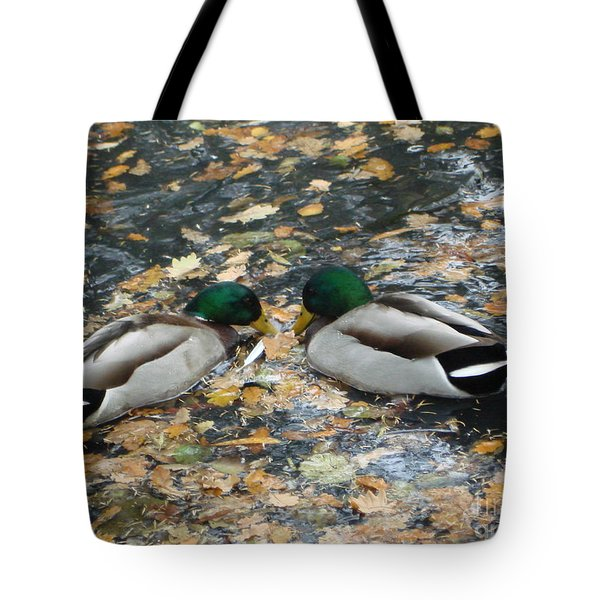Tote Bag featuring the photograph Good To Talk by Katy Mei