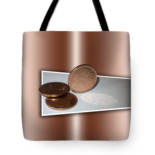 Tote Bag featuring the photograph Goodbye Canadian Penny by Pennie  McCracken