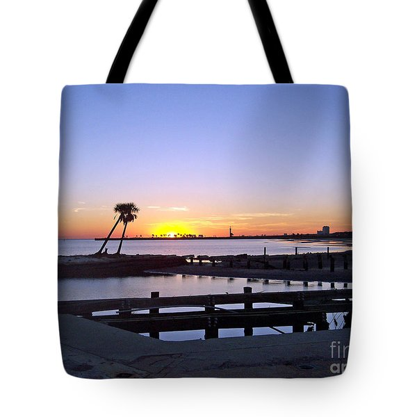 Tote Bag featuring the photograph Goodbye Sun by Roberta Byram