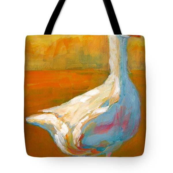 Goose A Farm Animal Tote Bag by Patricia Awapara