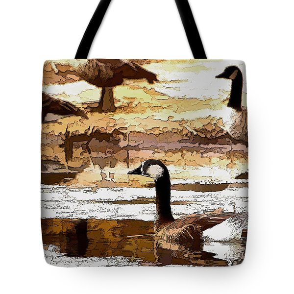 Goose Abstract Tote Bag
