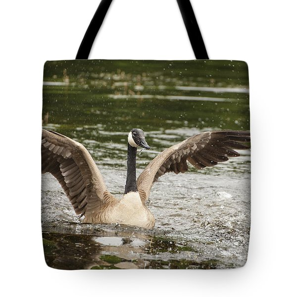 Goose Action Tote Bag by Karol Livote