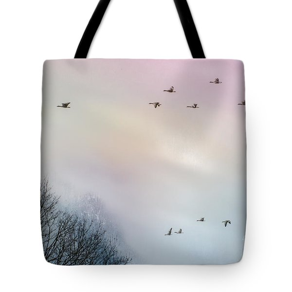 Goose Flight Tote Bag by Hannes Cmarits