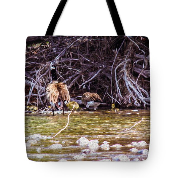 Goose On The Loose Tote Bag by Omaste Witkowski