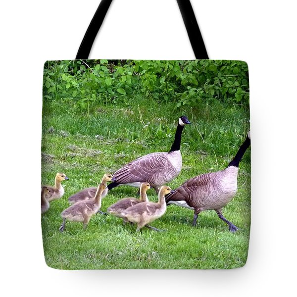Goose Step Tote Bag by Will Borden