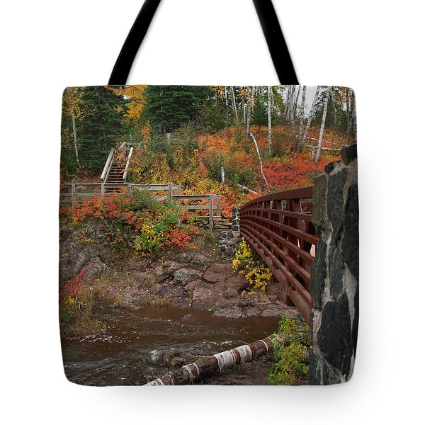 Tote Bag featuring the photograph Gooseberry Bridge by James Peterson